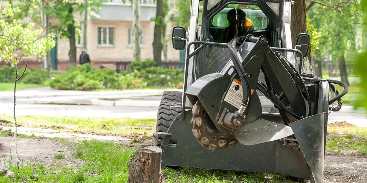 Tree Stump Grinding and Removal Service Machinery